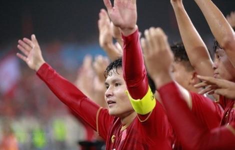Quang Hải đeo băng thủ quân U22 Việt Nam tại SEA Games 30