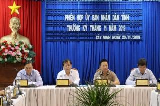 Góp ý các nội dung trình tại kỳ họp HĐND cuối năm 2019
