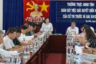 Thường trực HĐND tỉnh giám sát việc giải quyết kiến nghị của cử tri trước và sau kỳ họp thứ 12