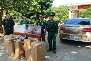 Biên phòng Tây Ninh thu giữ 5.000 gói thuốc lá lậu