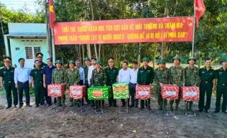 Ban Chỉ đạo tỉnh thăm các lực lượng làm công tác dân vận