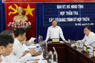 Thẩm tra các nội dung trình kỳ họp thứ 14 HĐND tỉnh