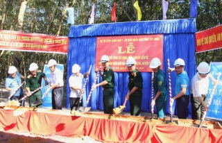 Khởi công xây dựng Điểm dân cư liền kề Chốt dân quân biên giới Bàu Sen