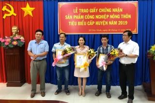 TP.Tây Ninh: Công nhận 3 sản phẩm công nghiệp nông thôn tiêu biểu năm 2019
