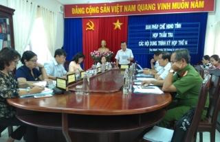Họp thẩm tra các nội dung trình kỳ họp thứ 14, HĐND tỉnh Tây Ninh