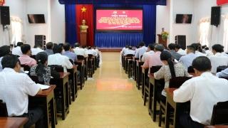 Gò Dầu: Triển khai các văn bản về tổ chức Đại hội Đảng bộ các cấp