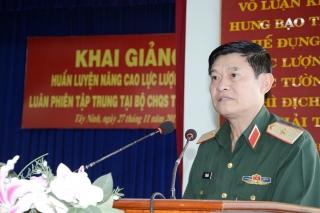 Khai giảng huấn luyện nâng cao lực lượng dân quân thường trực