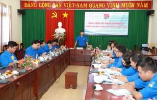 Bí thư thứ nhất Trung ương Đoàn làm việc với Huyện đoàn Hoà Thành