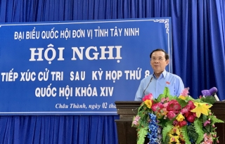 ĐBQH tiếp xúc cử tri Châu Thành, Tân Châu sau kỳ họp thứ 8 Quốc hội khóa XIV