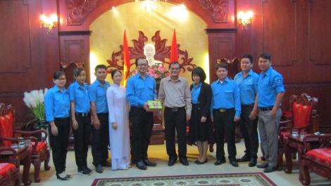 Phó Bí thư thường trực Tỉnh uỷ gặp mặt Đoàn đại biểu dự Đại hội đại biểu toàn quốc Hội LHTN Việt Nam