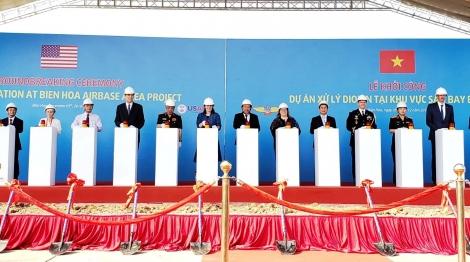 Khởi công dự án 390 triệu USD xử lý dioxin ở Sân bay Biên Hòa