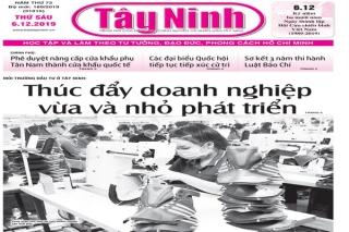 Điểm báo in Tây Ninh ngày 06.12.2019
