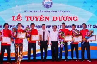 Tuyên dương VĐV Tây Ninh đạt thành tích xuất sắc tại SEA Games 30