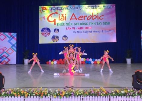 """Sôi nổi Giải """"Aerobic Thiếu niên, Nhi đồng"""" tỉnh Tây Ninh"""