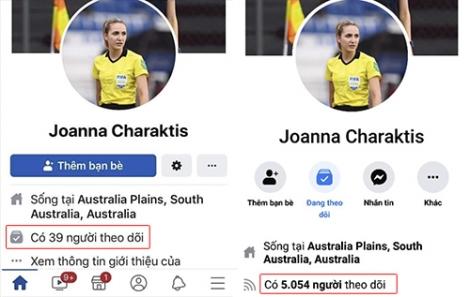 Nữ trọng tài trận Việt Nam - Thái Lan khóa Facebook