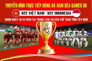 Tiếp sóng trực tiếp trận chung kết bóng đá nam SEA Games 30