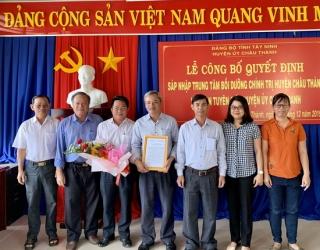 Sáp nhập Trung tâm bồi dưỡng chính trị huyện Châu Thành vào Ban Tuyên giáo Huyện ủy.