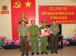Bổ nhiệm Trưởng Công an huyện Gò Dầu và Trảng Bàng