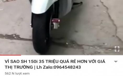 Sập bẫy vì mua xe máy xịn giá bèo qua mạng