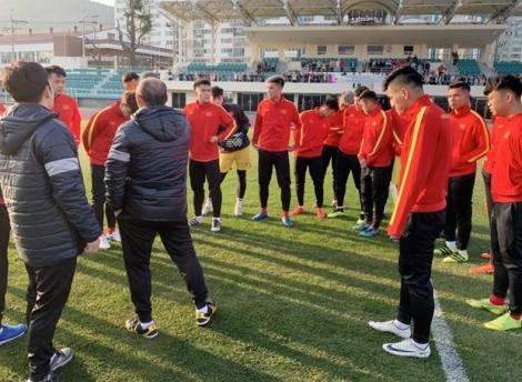 HLV Park Hang-seo và U23 Việt Nam có buổi tập đầu tiên ở Hàn Quốc