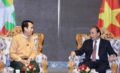 Thủ tướng Nguyễn Xuân Phúc tiếp Thủ hiến vùng Yangon
