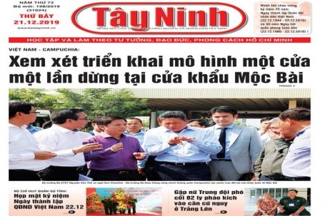 Điểm báo in Tây Ninh ngày 21.12.2019