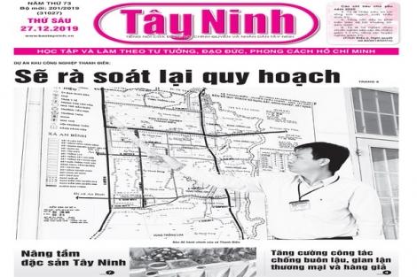 Điểm báo in Tây Ninh ngày 27.12.2019