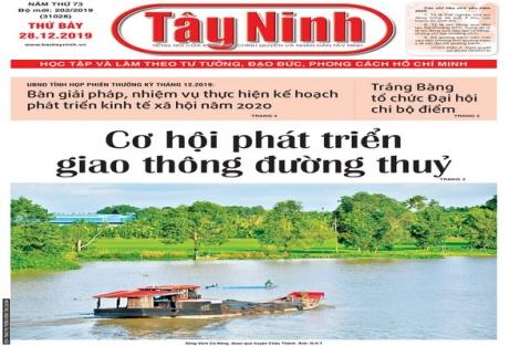 Điểm báo in Tây Ninh ngày 28.12.2019