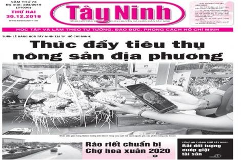 Điểm báo in Tây Ninh ngày 30.12.2019