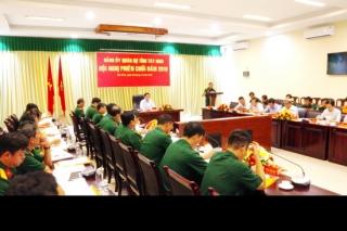 Đảng uỷ Quân sự tỉnh họp phiên cuối năm