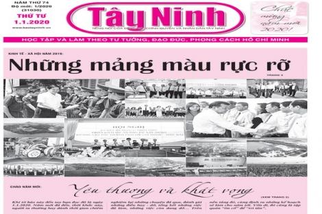 Điểm báo in Tây Ninh ngày 01.01.2020
