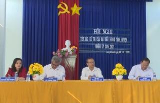 Đại biểu HĐND 2 cấp tỉnh, huyện tiếp xúc cử tri xã Long Khánh
