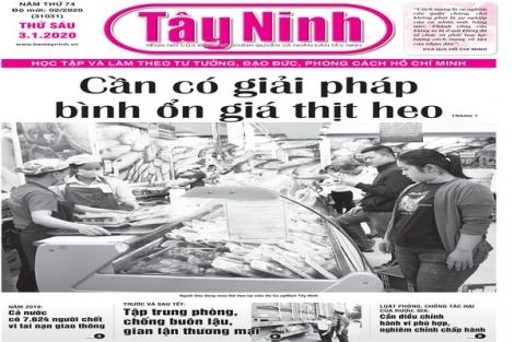 Điểm báo in Tây Ninh ngày 03.01.2020