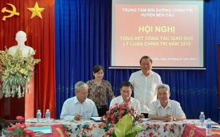 Trung tâm Bồi dưỡng Chính trị huyện Bến Cầu tổ chức hội nghị tổng kết công tác giáo dục lý luận chính trị năm 2019