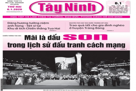 Điểm báo in Tây Ninh ngày 06.01.2020