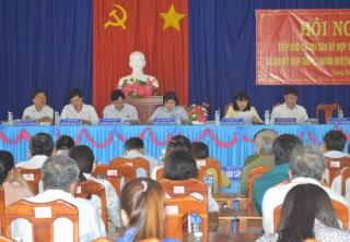 Đại biểu HĐND tỉnh tiếp xúc cử tri xã Trường Đông