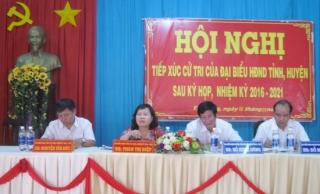 Đại biểu HĐND 2 cấp tiếp xúc cử tri xã Trà Vong