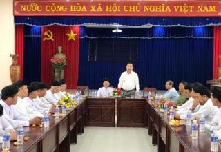Hội Thánh Cao Đài Tây Ninh chúc tết lãnh đạo huyện Bến Cầu