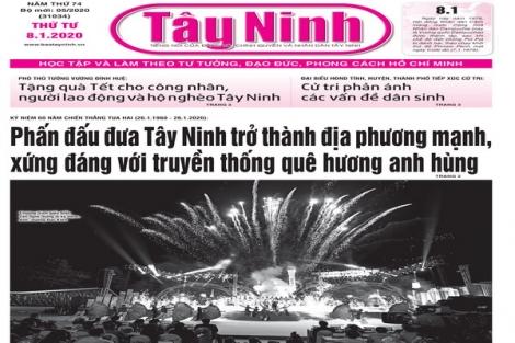 Điểm báo in Tây Ninh ngày 08.01.2020