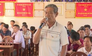 Đại biểu HĐND 2 cấp tỉnh huyện tiếp xúc cử tri xã Long Chữ-Long Thuận