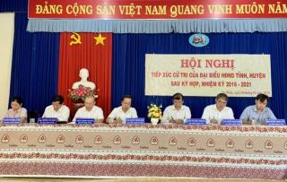 Tiếp xúc cử tri 2 xã Trí Bình và Thị trấn Châu Thành huyện Châu Thành