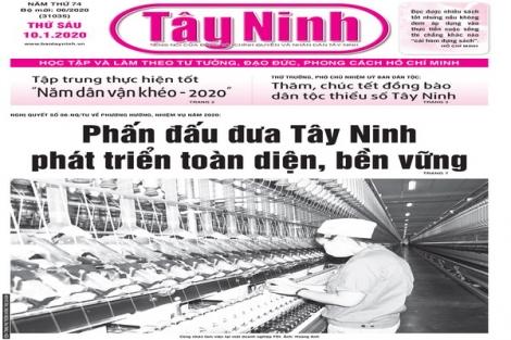 Điểm báo in Tây Ninh ngày 10.01.2020