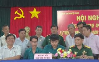 Tân Biên: Tổng kết thực hiện nhiệm vụ quân sự - quốc phòng năm 2019
