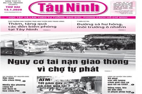 Điểm báo in Tây Ninh ngày 13.01.2020