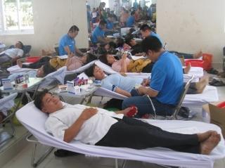 Tân Biên: Tiếp nhận gần 300 đơn vị máu hiến