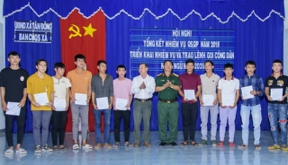 Tân Châu trao lệnh gọi công dân nhập ngũ năm 2020