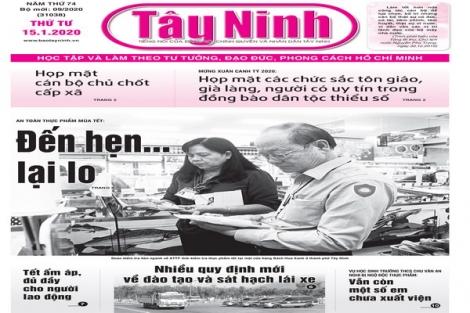 Điểm báo in Tây Ninh ngày 15.01.2020