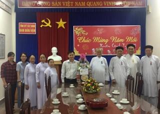 Các tổ chức tôn giáo chúc Tết Ban Dân vận Tỉnh ủy Tây Ninh