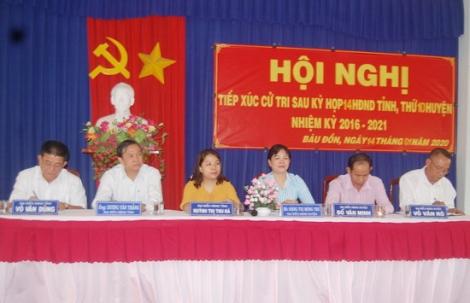 Đại biểu HĐND tỉnh, huyện tiếp xúc cử tri xã Bàu Đồn