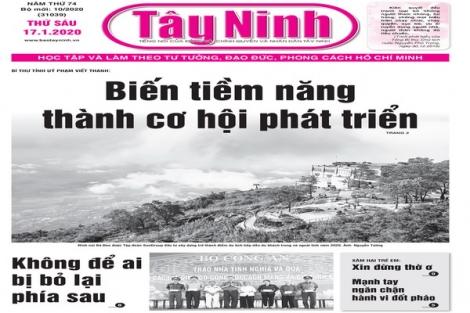 Điểm báo in Tây Ninh ngày 17.01.2020